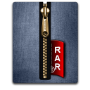 Rar gold blue Png Icon