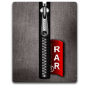 Rar silver black Png Icon
