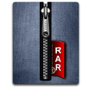 Rar silver blue Png Icon