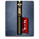 Zip gold blue Png Icon