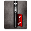 Zip silver black Png Icon