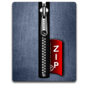 Zip silver blue Png Icon