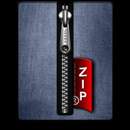 Zip silver blue