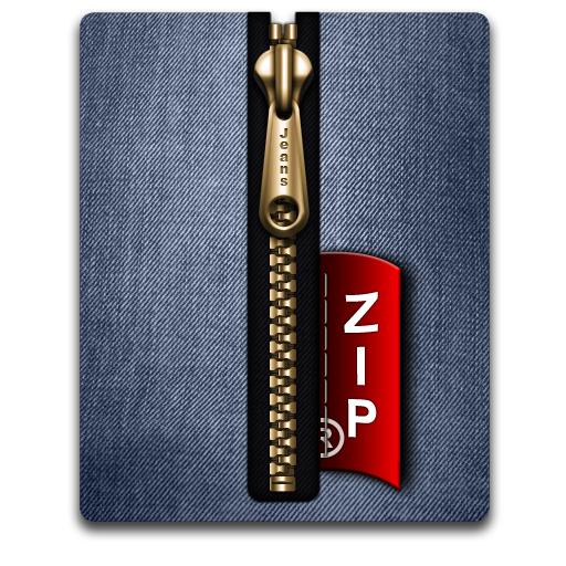 Zip gold blue large png icon