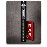 Rar silver black large png icon