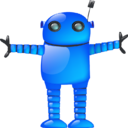 Blue robot Png Icon