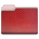leather folder red Png Icon