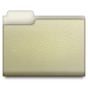 leather folder white Png Icon