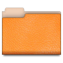 leather orange 01 Png Icon