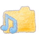 Folder yellow music Png Icon