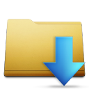 classic folder downloads Png Icon