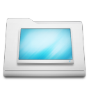 white folder desktop Png Icon