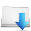 white folder downloads Png Icon