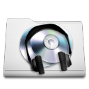 white folder music Png Icon