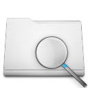 white folder search Png Icon