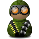 night vision camouflage green png icon