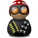 night vision red helmet black png icon