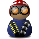 night vision red helmet blue png icon