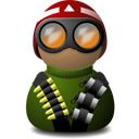 night vision red helmet green png icon