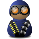 night vision uniform blue png icon