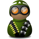 night vision uniform green delta png icon