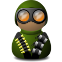night vision uniform green png icon