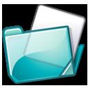 folder cyan Png Icon