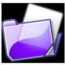 folder violet Png Icon