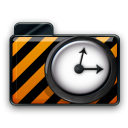 orange alarm Icon 29 png icon
