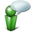 bulle green Png Icon