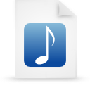 file document paper blue g11853 Png Icon