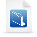 file document paper blue g11856 Png Icon