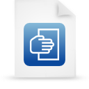 file document paper blue g12107 Png Icon