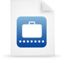 file document paper blue g12190 Png Icon