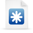 file document paper blue g12443 Png Icon