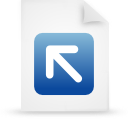file document paper blue g12823 Png Icon