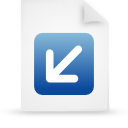 file document paper blue g12874 Png Icon
