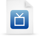 file document paper blue g12896 Png Icon