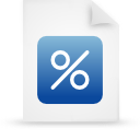 file document paper blue g12908 Png Icon