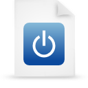 file document paper blue g12932 Png Icon