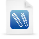 file document paper blue g12946 Png Icon