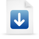 file document paper blue g13247 Png Icon