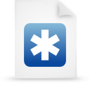 file document paper blue g13253 Png Icon