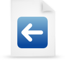 file document paper blue g13259 Png Icon