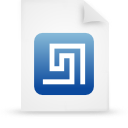 file document paper blue g13403 Png Icon
