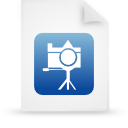 file document paper blue g13426 Png Icon