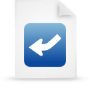 file document paper blue g13448 Png Icon