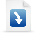 file document paper blue g13460 Png Icon