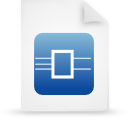 file document paper blue g13468 Png Icon