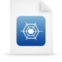 file document paper blue g13494 Png Icon
